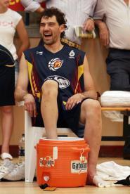 Jorge Garbajosa se recupera con BOSU