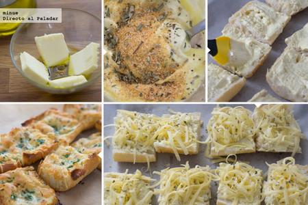 Pan de ajo y queso gratinado - 2