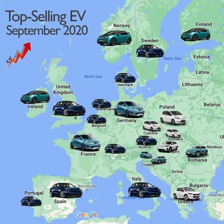 Mapa Coches Electricos Mas Vendidos