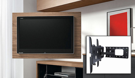 Soportes de pared para Smart TV - brazos articulados