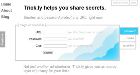 Trick.ly, protege tus direcciones acortadas con contraseña