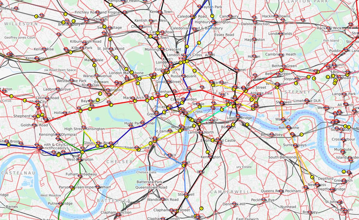 El Funcionamiento Del Metro De Londres En Tiempo Real Ilustrado