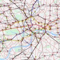 El funcionamiento del metro de Londres en tiempo real, ilustrado en este fantástico mapa