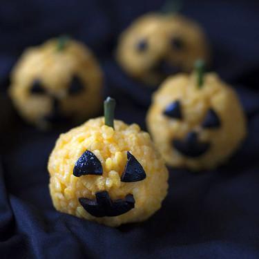 Calabacitas de arroz, receta fácil para Halloween