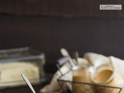 Panna cotta al caramelo de mantequilla salada. Receta