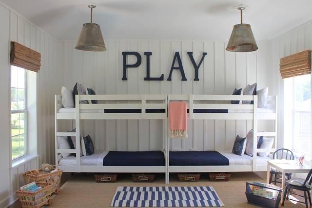 Habitaciones infantiles para tres o más niños