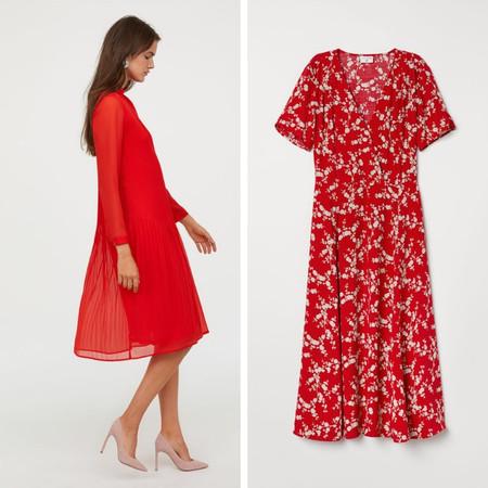 vestido rojo san valentin h&m