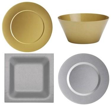 Dorado y plateado en tu mesa
