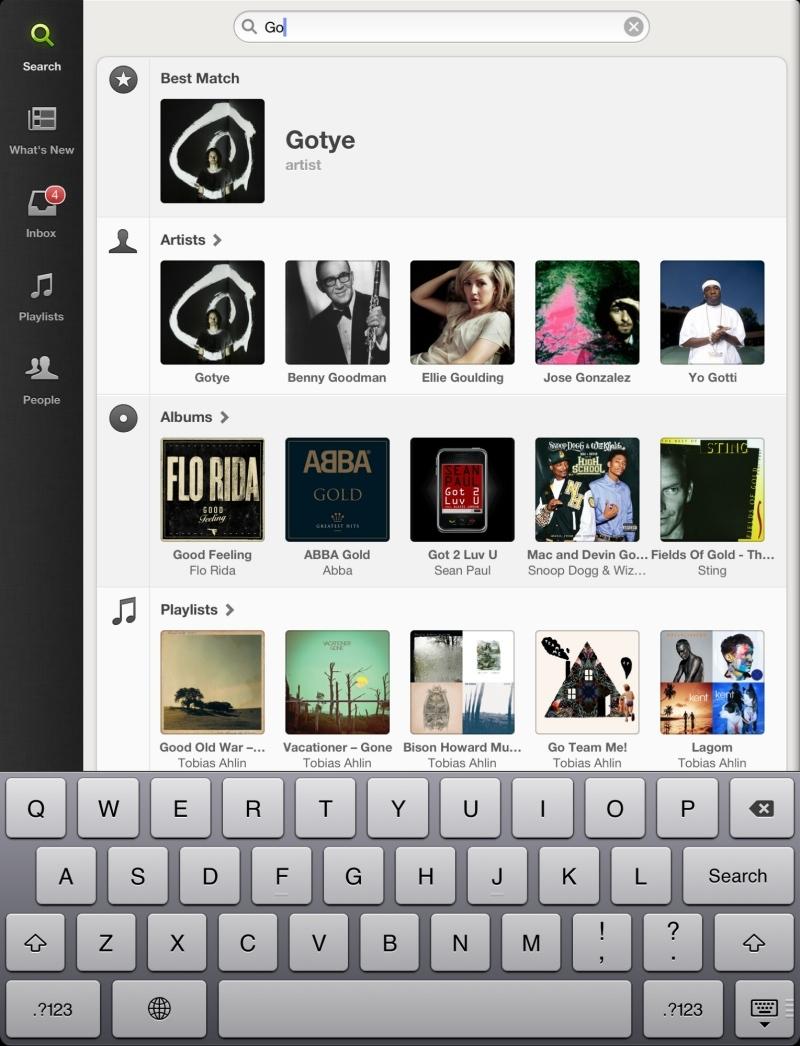Foto de Spotify en iPad (9/11)
