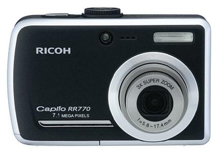 Ricoh Caplio RR770, con pantalla de 3 pulgadas