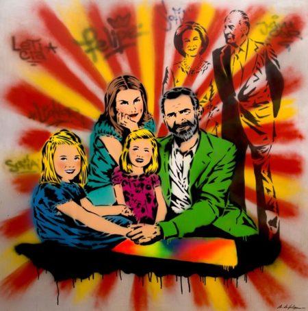 Retrato De La Familia Real Antonio De Felipe Graffitipop