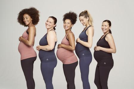 Reebok lanza una colección premamá que crece con la barriga: la misma ropa desde el principio hasta el postparto