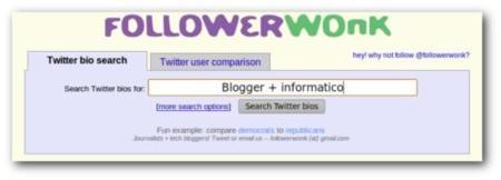 Follower Wonk, encuentra usuarios interesantes en Twitter