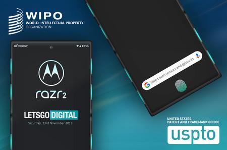 Motorola razr 2: con reconocimiento de gestos laterales y sensor de huellas en pantalla, según una patente