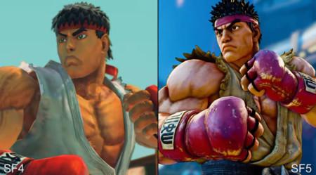 Street Fighter IV y  V no son exactamente iguales: comparan ambos jugando a la vez con el mismo mando