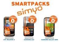 """Simyo oferta """"SmartPacks"""", Smartphones desde cero euros para sus clientes actuales"""