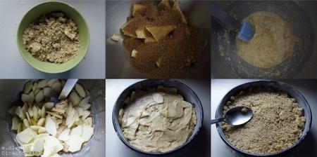 Paso a paso cake de manzana con cobertura de nueces