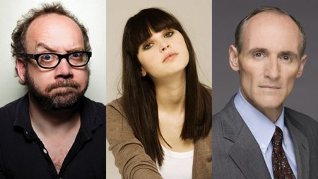 Paul Giamatti, Felicity Jones y Colm Feore