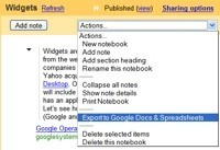 Exporta documentos de Google Notebook a Google Docs