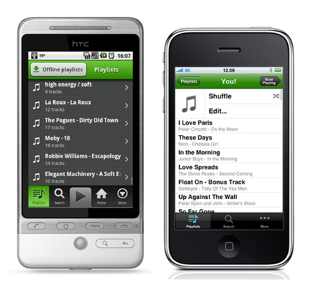 Spotify para iPhone y Android