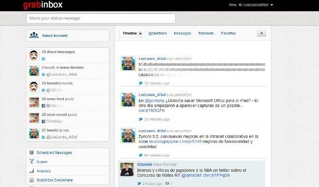 GrabInbox, una alternativa online para manejar tus redes sociales de forma conjunta