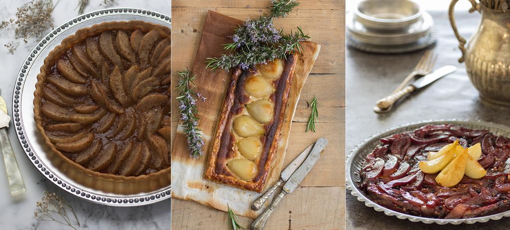 Tres tartas de pera deliciosas y originales