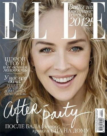 Las singulares portadas que nos esperan. Sharon Stone para Elle Rusia