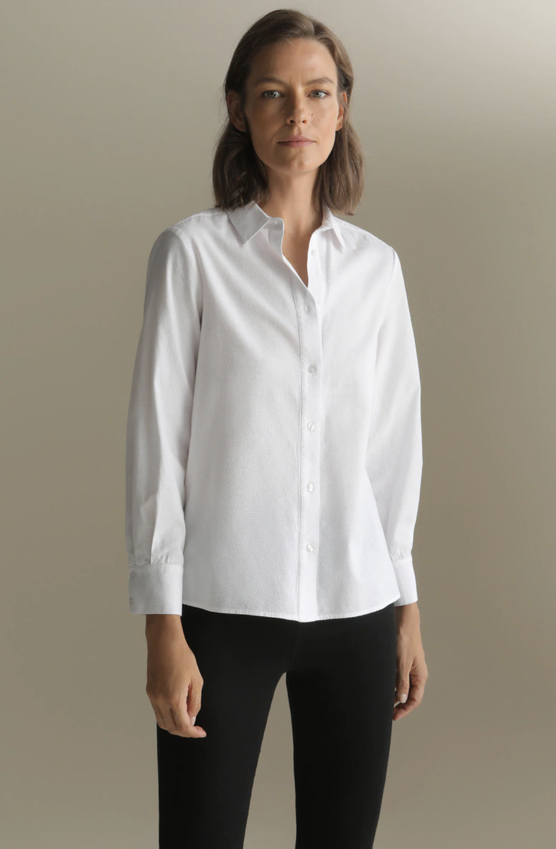 Camisa de mujer Woman Sport 100% algodón manga larga