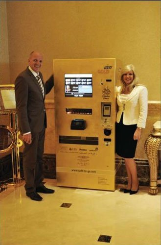 La primera máquina vending de oro 24k en el Emirates Palace Abu Dhabi