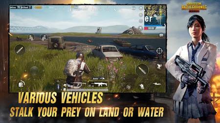 Vehículos en PUBG Mobile