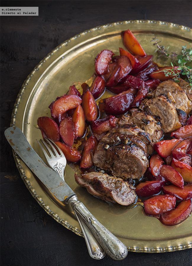 Solomillo de cerdo al horno con ciruelas claudias y for Solomillo al horno facil y rapido