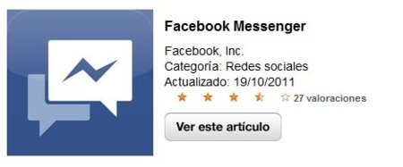 Facebook Messenger sale por fin para iOS