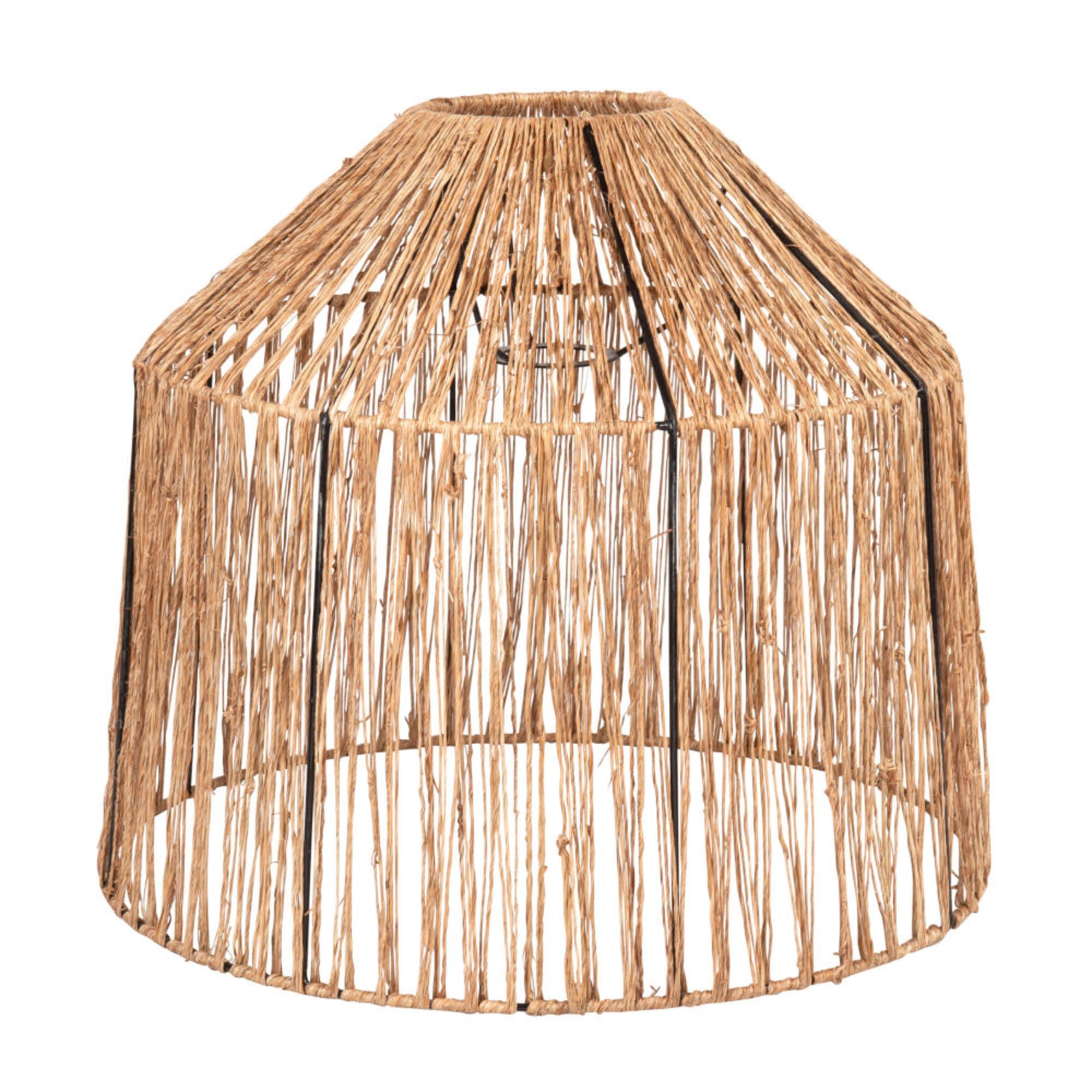 Pantalla para lámpara de techo en yute trenzado.