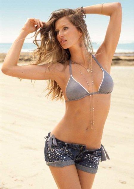 Catálogo de baño de Calzedonia con Gisele Bundchen Verano 2010: dominan los bikinis III