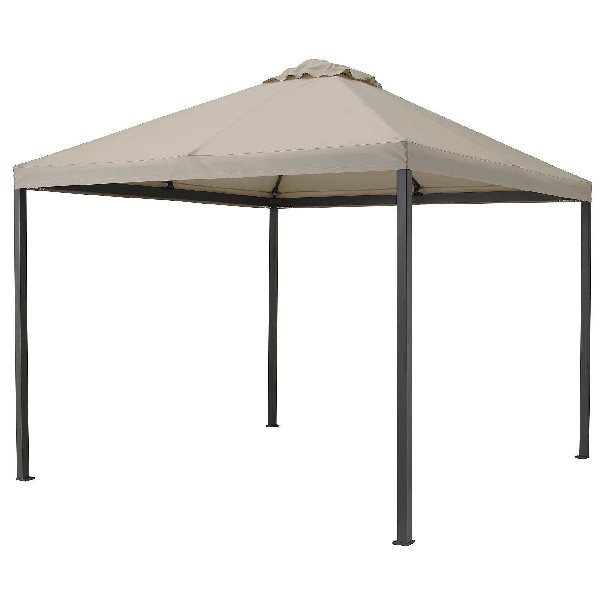 HIMMELSÖ Cenador, gris oscuro/beige grisáceo300x300 cm