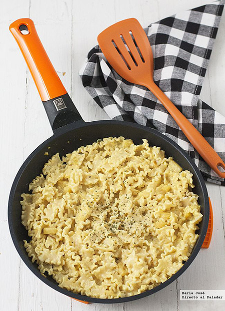 Mafalda Corta con manzana y crema al curry, receta de pasta para solucionar la comida en un santiamén