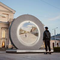 Este asombroso portal une ciudades de Polonia y Lituania, pero nada de teletransportarse