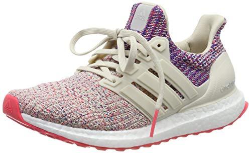 Adidas Ultraboost W, Zapatillas de Running para Mujer, Marrone Clear Brown/Shock Red/Active Blue, 37 1/3 EU