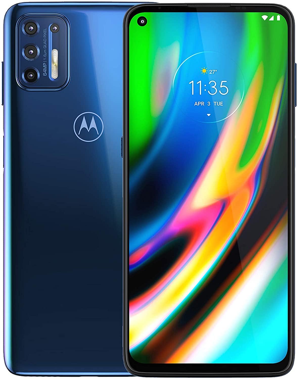Moto G9 Plus |  Desbloqueado |  Solo GSM internacional |  4 / 128GB |  Cámara de 64MP |  2019 |  Azul índigo, 169,98 x 78,1 x 9,69 mm