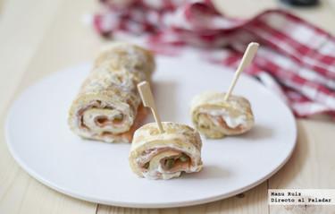 Omelette roulade de salmón y cebollino para el #díadelatortilla. Receta
