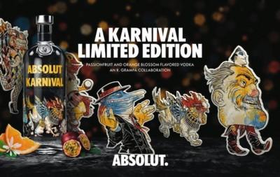 Se acerca carnaval y Absolut Vodka ya tiene su disfraz