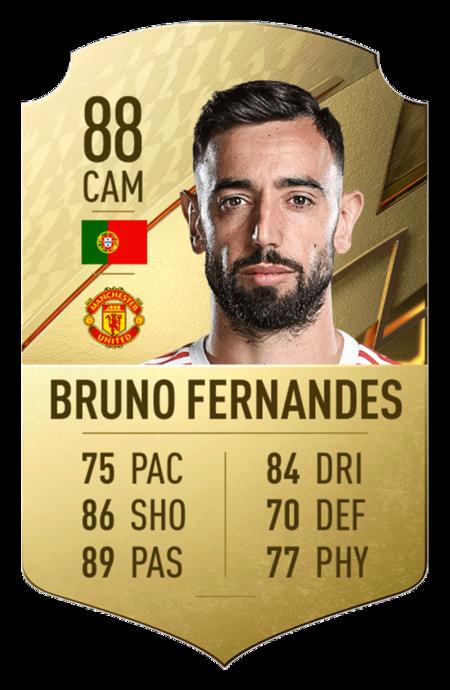 Fernandes FIFA 22 mejores jugadores premier league