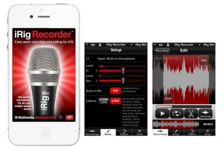 iRig Recorder, grabación de audio profesional para IOS