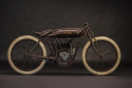 Hace cien años se fabricó esta Indian de carreras de 1.000 cc con 7 CV, y ahora vuelve a estar en venta