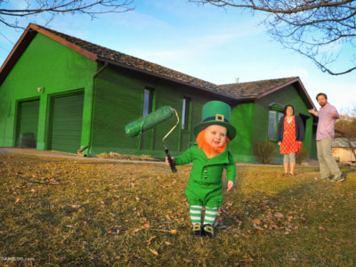 Un padre convierte a su bebé de 6 meses en un simpático duende irlandés
