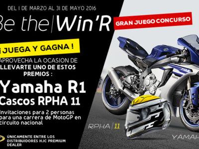 """¿Quieres una Yamaha YZF-R1, un HJC R-PHA 11 o un pase doble para ver MotoGP? Participa en """"Be the win'r"""""""