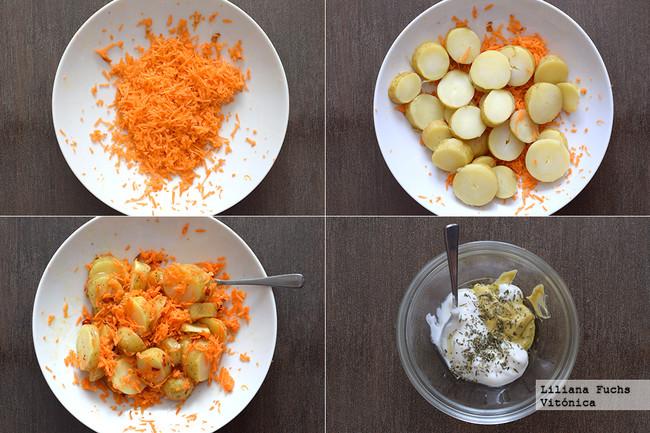 Ensalada de Patata y Zanahoria. Pasos