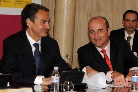 Jose Luis Rodriguez Zapatero y Miguel Sebastian