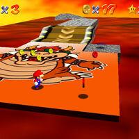 Super Mario 64: cómo conseguir la estrella 8-Coin Puzzle with 15 Pieces de Lethal Lava Land