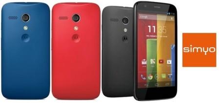 Precios Motorola Moto G con Simyo y comparativa con Movistar y Yoigo